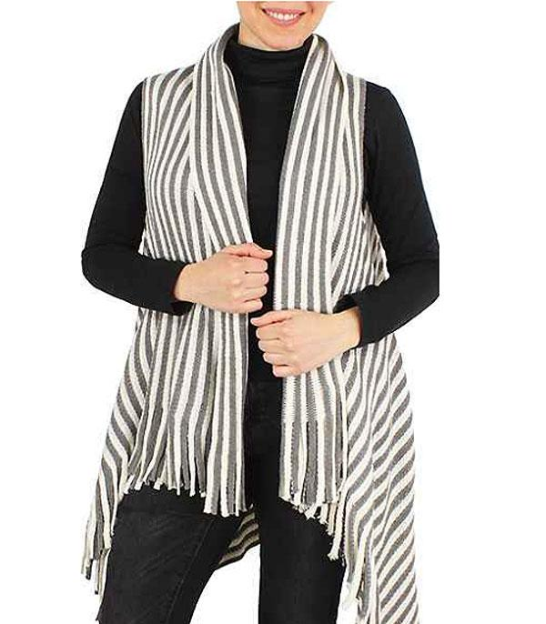 New Arrival :: Wholesale Womens Stripe Knit Vest