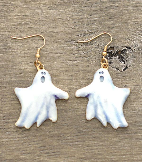 <font color=RED>SEASONAL</font> :: Wholesale Ghost Halloween Earrings