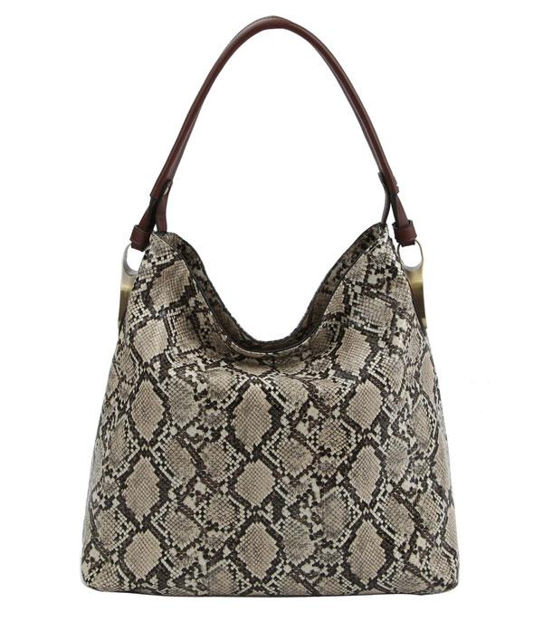 WHAT'S NEW :: Wholesale Snake Skin Print Hobo Bag