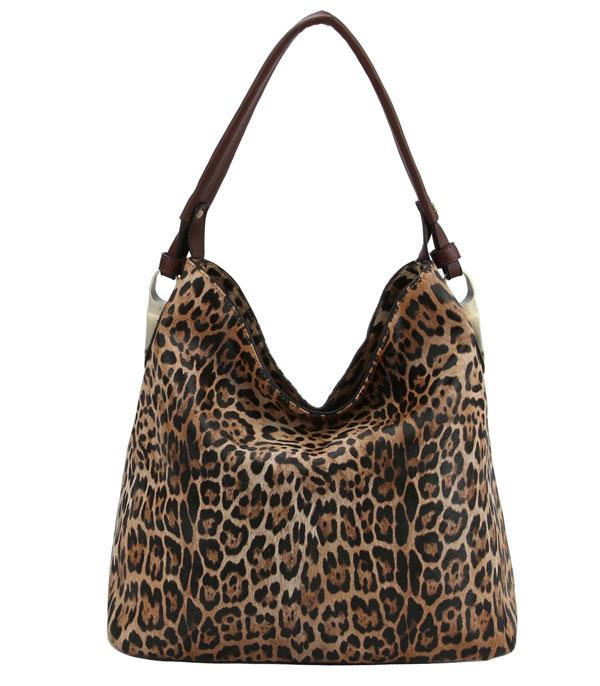 WHAT'S NEW :: Wholesale Leopard Print Faux Leather Hobo