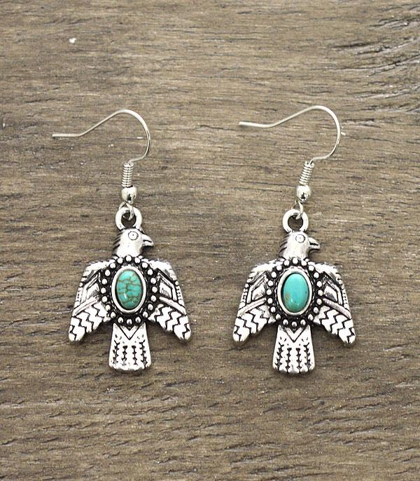 New Arrival :: Wholesale Thunderbird Turquoise Earrings