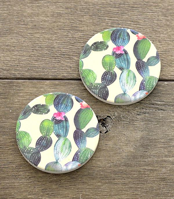 New Arrival :: Wholesale Cactus Car Coaster Set