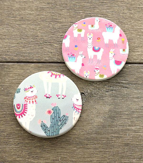 New Arrival :: Wholesale Llama Car Coaster Set