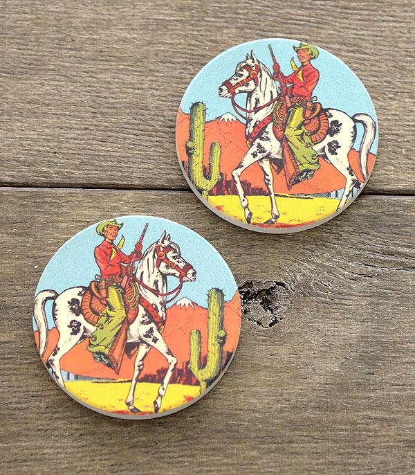 New Arrival :: Wholesale Western Cowboy Car Coaster Set