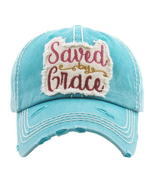New Arrival :: Wholesale Saved By Grace Vintage Ballcap