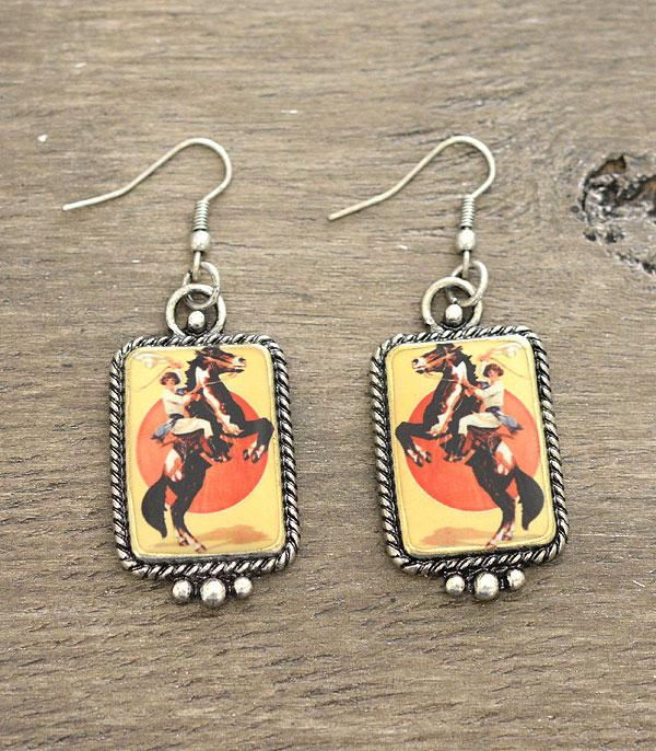 New Arrival :: Wholesale Western Vintage Cowgirl Portrait Earring