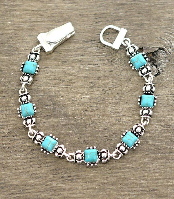 New Arrival :: Wholesale Turquoise Magnetic Bracelet