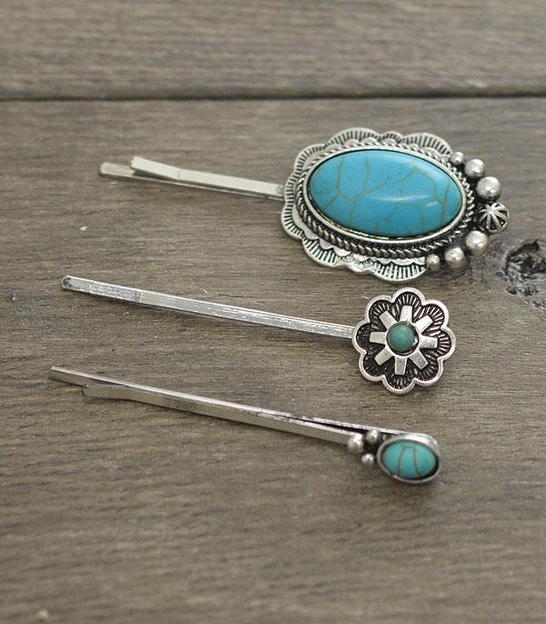 New Arrival :: Wholesale Turquoise Bobby Pin Set