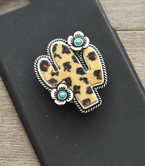 New Arrival :: Wholesale Leopard Cactus Phone Grip