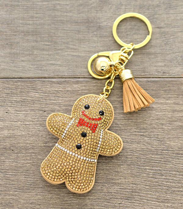WHAT'S NEW :: Wholesale Bling Christmas Gingerbread Man Keychain