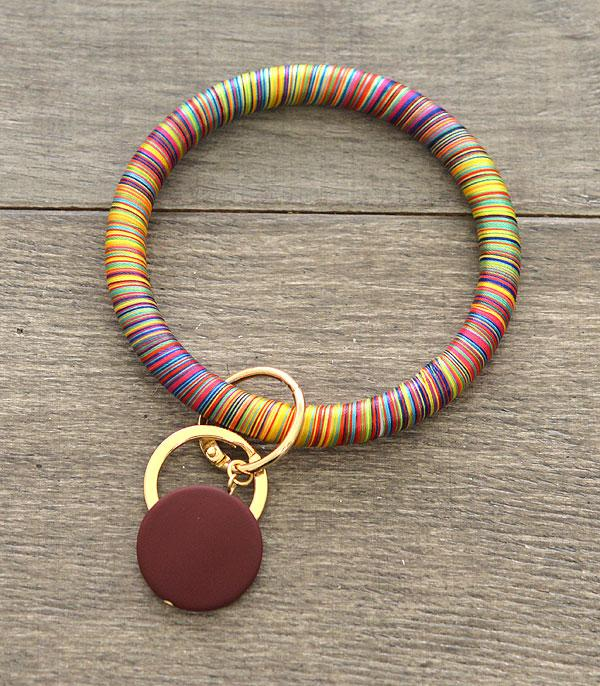 WHAT'S NEW :: Wholesale Multi Thread Wrapped Bangle Keychain