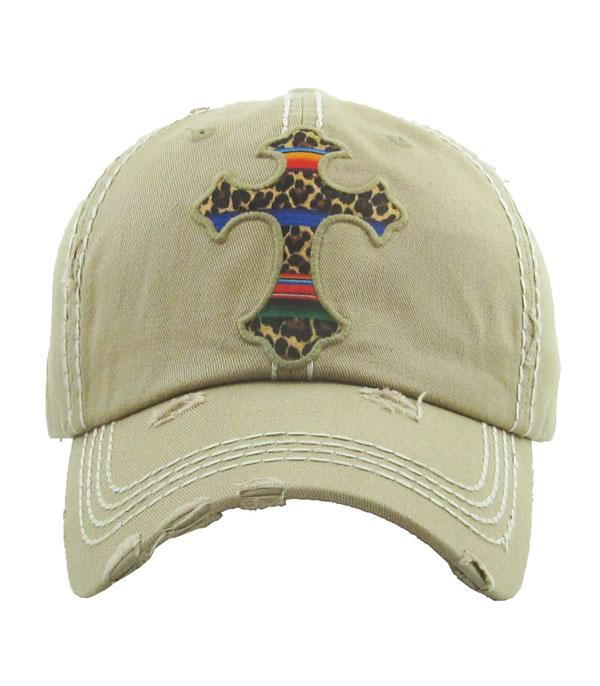 New Arrival :: Wholesale Leopard Serape Cross Hat