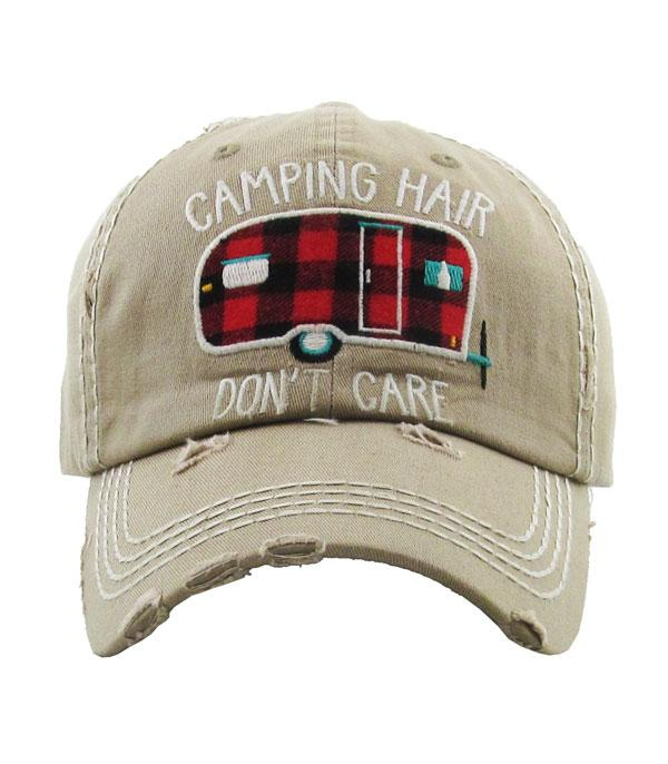 New Arrival :: Wholesale Camping Hair Buffalo Plaid Vintage Hat