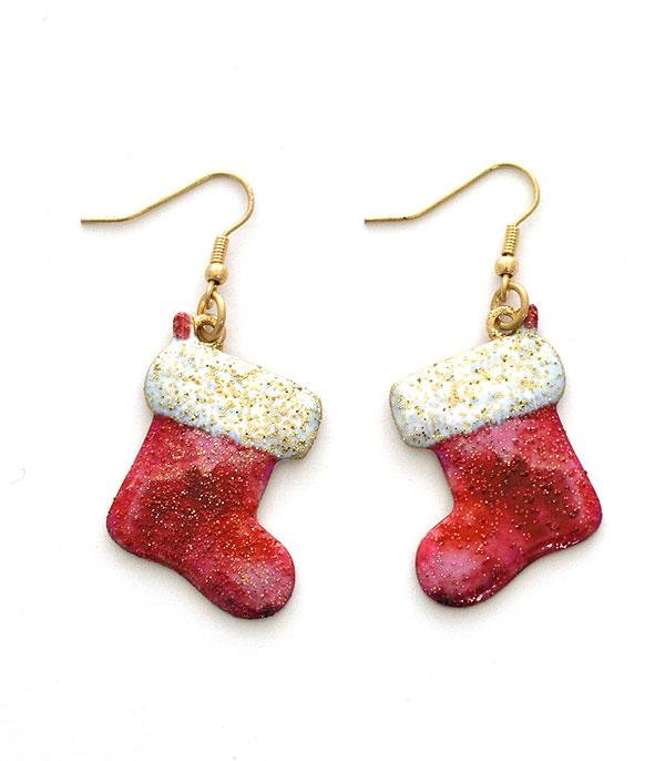 New Arrival :: Wholesale Christmas Stocking Dangle Earrings
