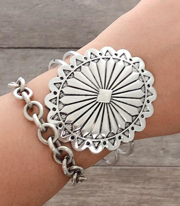 New Arrival :: Wholesale Western Concho Statement Bracelet
