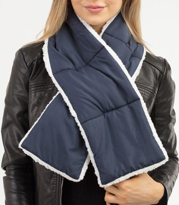New Arrival :: Wholesale Sherpa Quilted Scarf