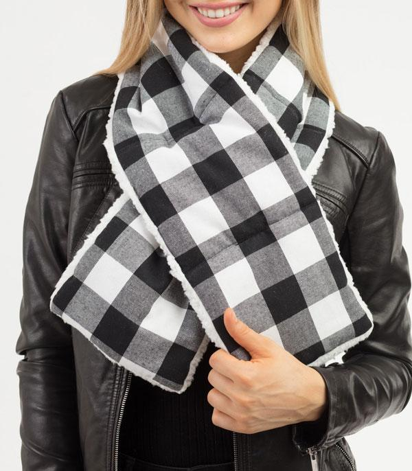 New Arrival :: Wholesale Buffalo Plaid Sherpa Quilted Scarf