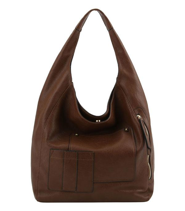 New Arrival :: Wholesale Classic Faux Leather Hobo Bag