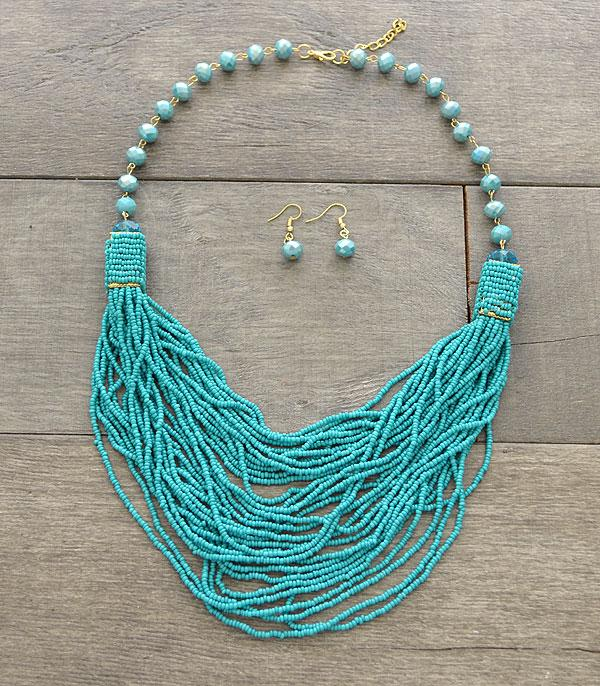 New Arrival :: Wholesale Multi Strand Beaded Necklace Set