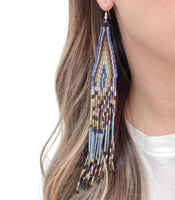 New Arrival :: Wholesale Seed Bead Shoulder Length Earrings