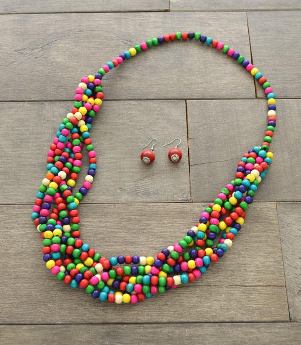 New Arrival :: Wholesale Knotted Wood Beads Necklace