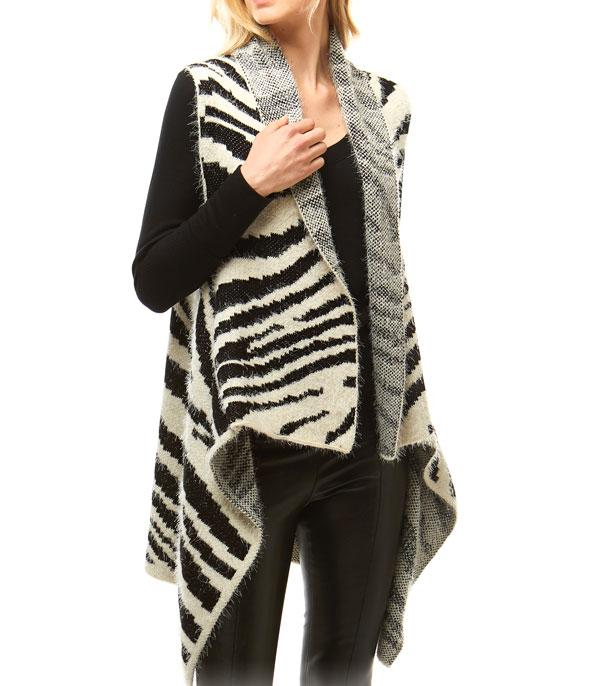 New Arrival :: Wholesale Soft Fuzzy Animal Print Vest