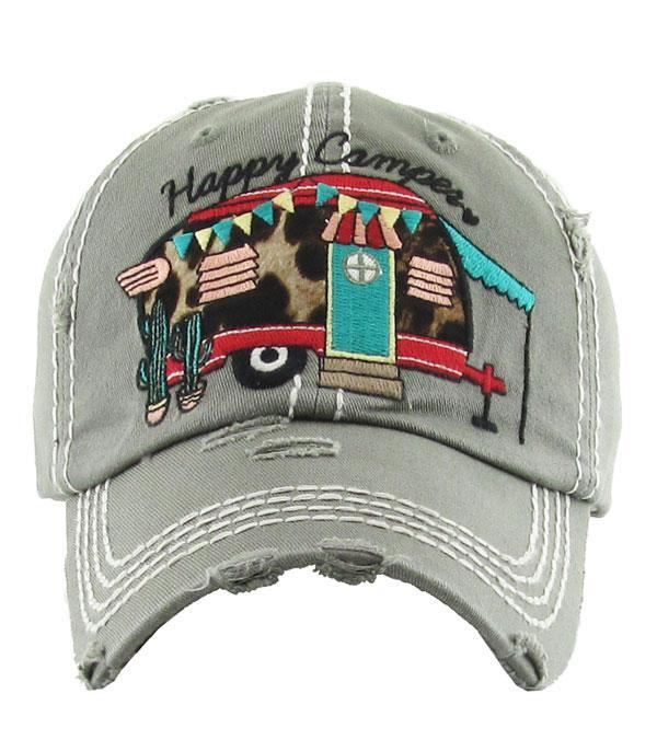 New Arrival :: Wholesale Happy Camper Leopard Vintage Hat