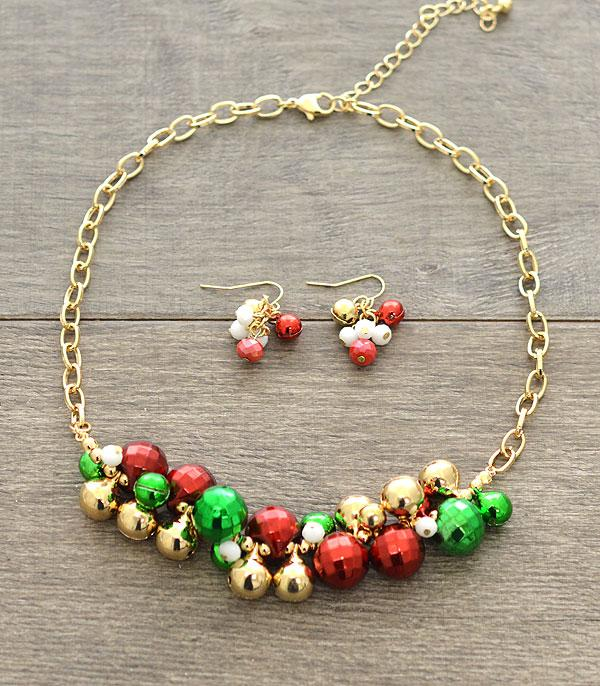 New Arrival :: Wholesale Christmas Charm Necklace Set