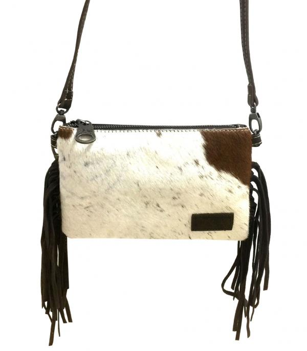 New Arrival :: Wholesale Montana West Cowhide Leather Fringe Bag