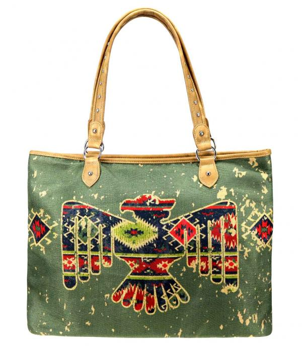 MONTANAWEST BAGS :: PICTURE CANVAS BAGS :: Wholesale Montana West Thunderbird Print Tote