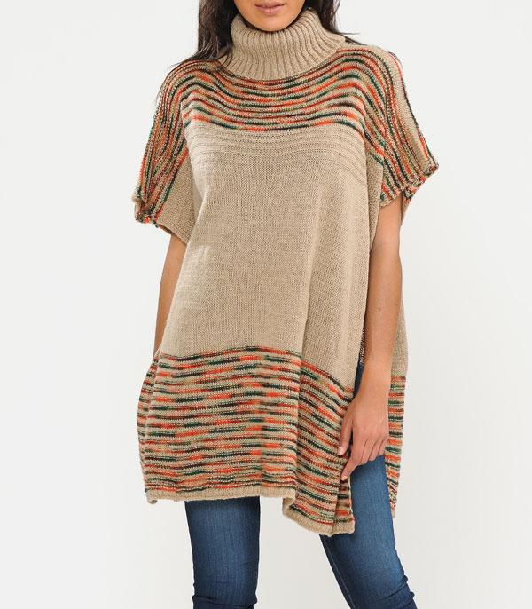 New Arrival :: Wholesale Turtleneck Urbanesta Knit Poncho