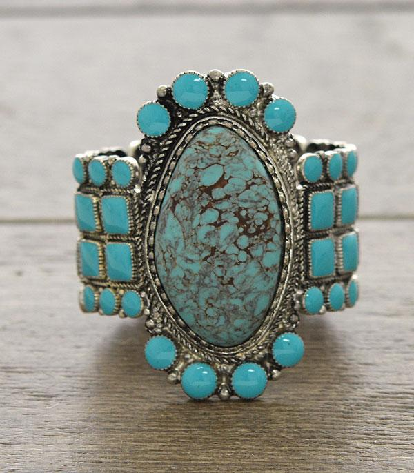 <font color=Turquoise>TURQUOISE JEWELRY</font> :: Wholesale Western Turquoise Statement Bracelet