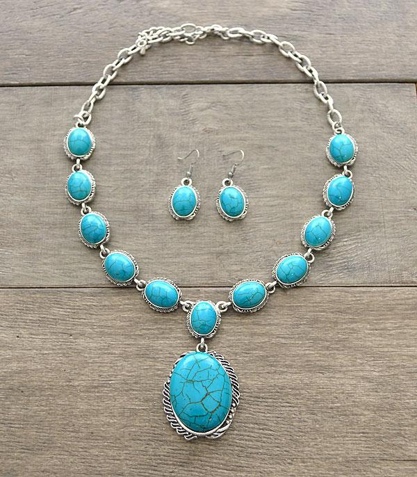 <font color=Turquoise>TURQUOISE JEWELRY</font> :: Wholesale Western Turquoise Necklace Set