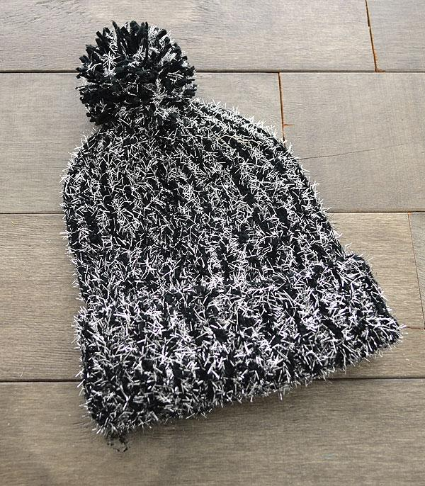 New Arrival :: Wholesale Sparkle Knit Pom Beanie