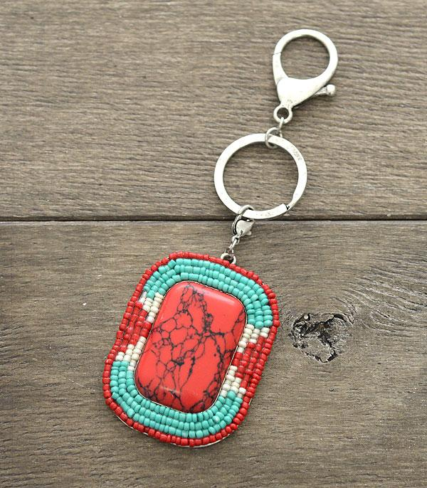 <font color=Turquoise>TURQUOISE JEWELRY</font> :: Wholesale Turquoise Stone Keychain