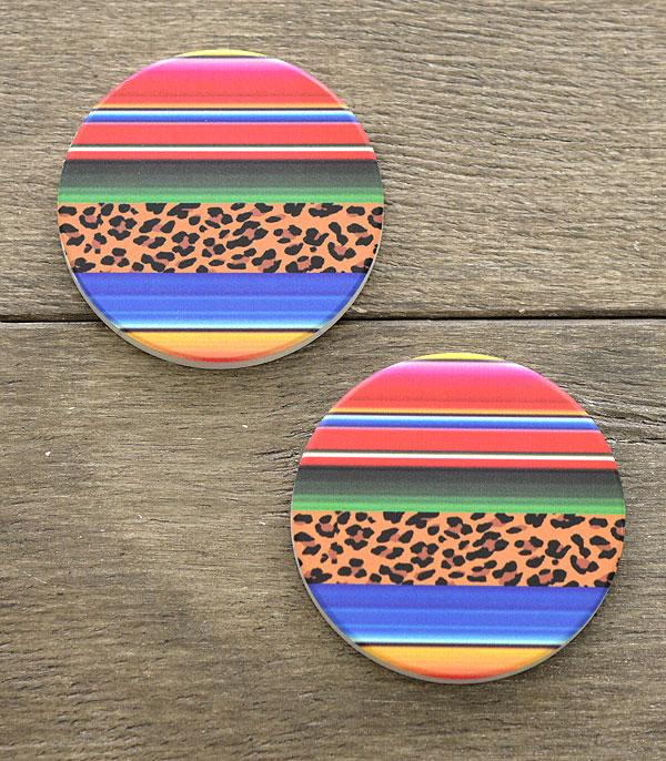 New Arrival :: Wholesale Serape Leopard Car Coaster Set