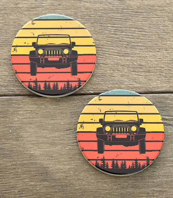 New Arrival :: Wholesale Jeep Car Coaster Set