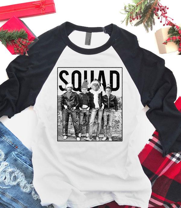 <font color=RED>SEASONAL</font> :: Wholesale Christmas Squad Raglan