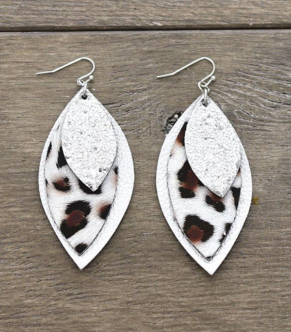 New Arrival :: Wholesale Animal Print Glitter Layered Earrings