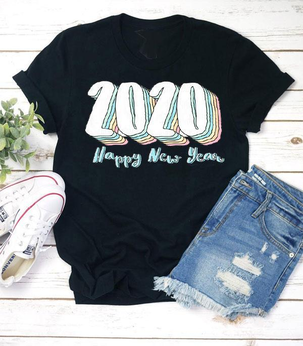 New Arrival :: Wholesale Happy New Year 2020 Retro T-Shirt