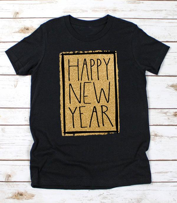 New Arrival :: Wholesale Happy New Year Graphic T-Shirt