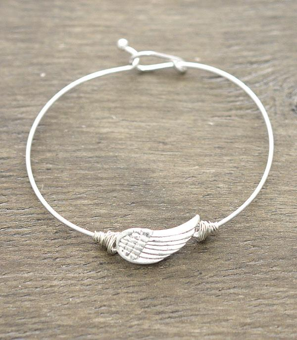 New Arrival :: Wholesale Angel Wing Latch Bangle Bracelet