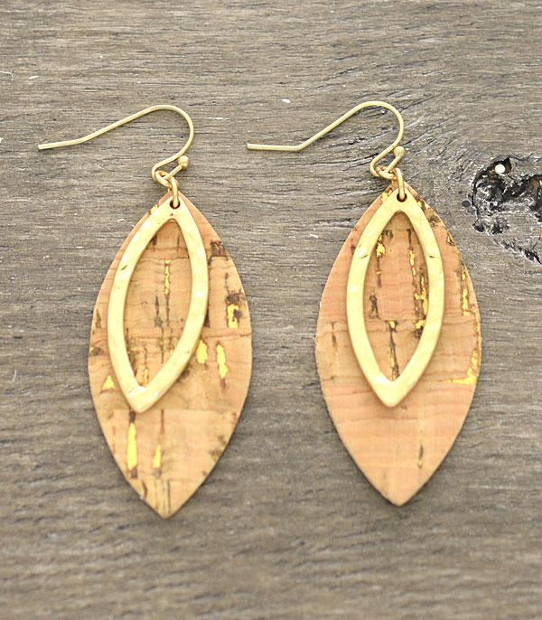 New Arrival :: Wholesale Cork Marquis Earrings