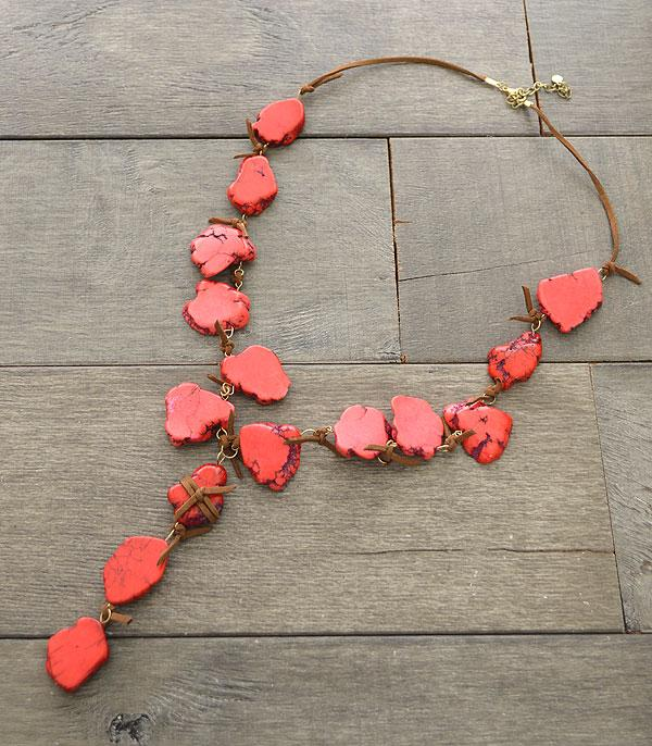 WHAT'S NEW :: Wholesale Coral Turquoise Stone Necklace