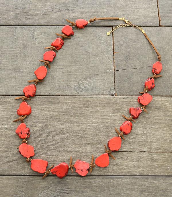 WHAT'S NEW :: Wholesale Red Turquoise Stone Necklace