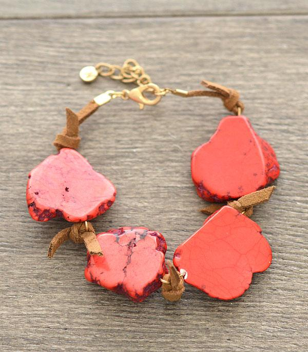 WHAT'S NEW :: Wholesale Red Turquoise Stone Bracelet