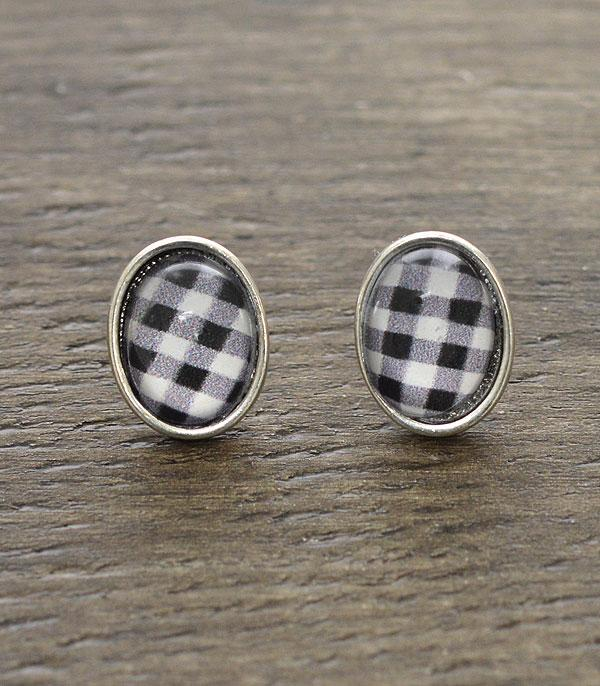 WHAT'S NEW :: Wholesale Buffalo Plaid Post Earrings