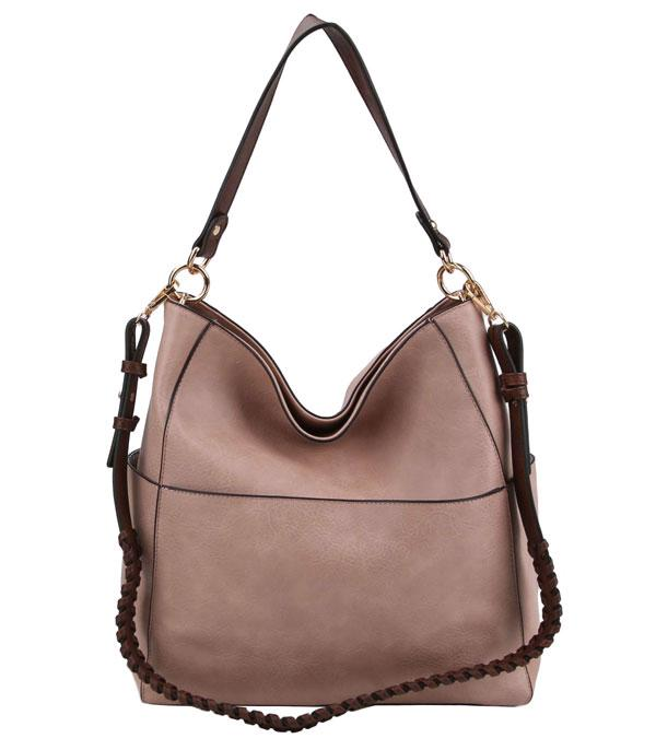 WHAT'S NEW :: Wholesale Multi Pocket Whipstitch Strap Hobo Bag