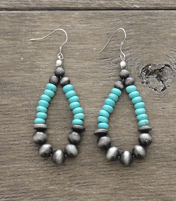 New Arrival :: Wholesale Turquoise Navajo Pearl Earrings