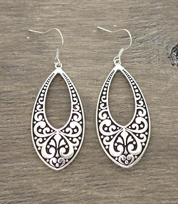 New Arrival :: Wholesale Textured Casting Hook Earrings